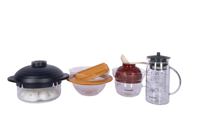 Glass Bowl Cooking Set