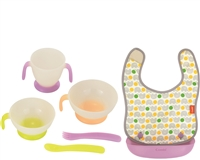 Baby Label Bib & Tableware Set