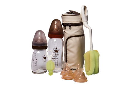 Glass Bottle Travel Set